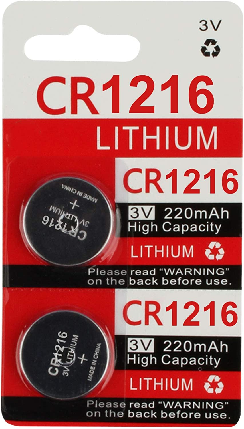 CR1220 1220 Battery Key Fob Remote 2-Pack
