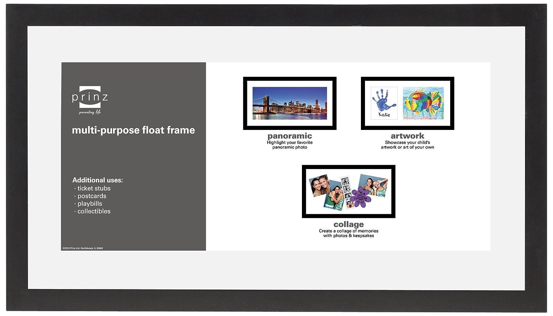 PRINZ Crosby Black Wood Float Frame, 11 by 14-Inch 3038-614