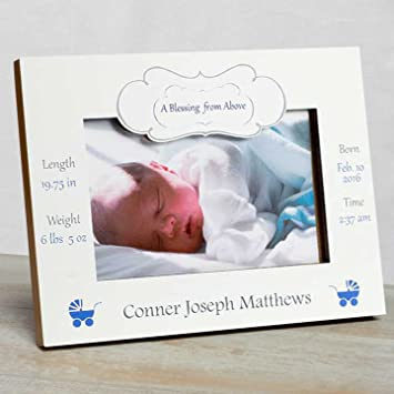 Amazon.com : Personalized Baby Picture Frame, Baby Boy Picture Frame ...