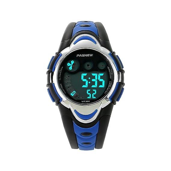 e131f00844e8 etows Impermeable Luces relojes Flash 50 m cronógrafo Digital niños niñas  reloj de pulsera deportivo  Amazon.es  Relojes
