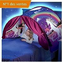 Kangrunmys Tente De Lit Enfant Garcon Fille Princesse Tunne Lit RêVe Jouer Pop Up Ciels Lit Playhouse Interieur Tent Cadeau Moustiquaires Ciels de Lit