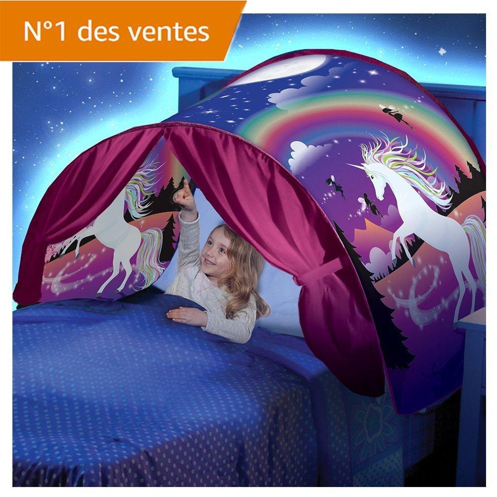 Kangrunmy_ Tente De Lit Enfant Garcon Fille Princesse Tunne Lit RêVe Jouer Pop Up Ciels Lit Playhouse Interieur Tent Cadeau Moustiquaires Ciels de Lit