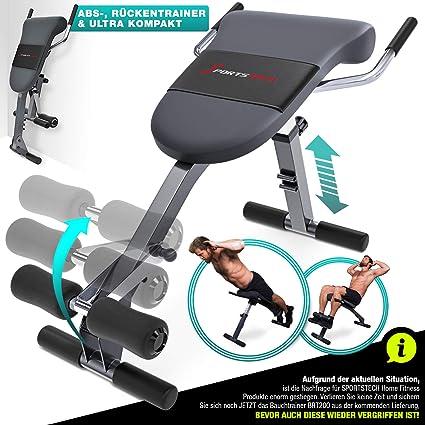 Sportstech Appareil de Musculation du Dos et des abdominaux 3 en 1 BRT200, Banc Sit up Pliable incliné, Hyper Extension, Multifonctionnel, Fitness