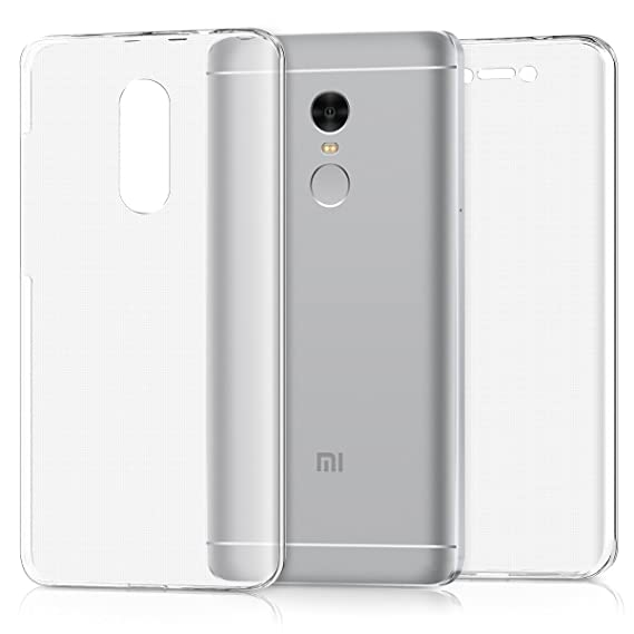 half off b8733 9b994 kwmobile Case for Xiaomi Redmi Note 4 / Note 4X - Crystal Clear TPU  Silicone Protective Cover Full Body Case - Transparent