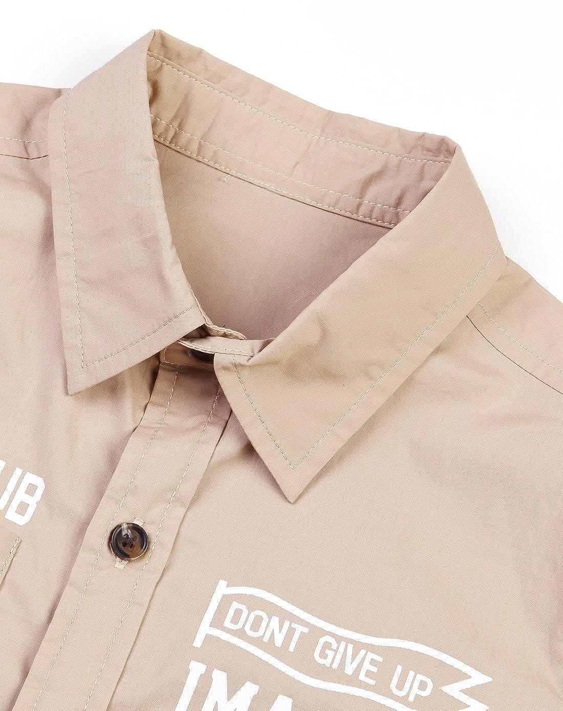 Boys Short Sleeve Poplin Dress Shirt Fashion Uniform Oxford Shirt