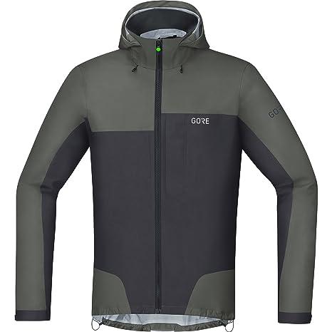 GORE Wear Chaqueta impermeable de ciclismo para hombre, S, Gris, 100209
