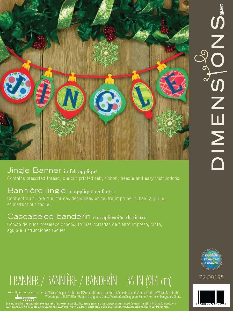 Dimensions Crafts Felt Applique Banner Jingle