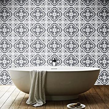 Wandaufkleber Marokkanische Badezimmer Fliesenmuster Abziehbild ...