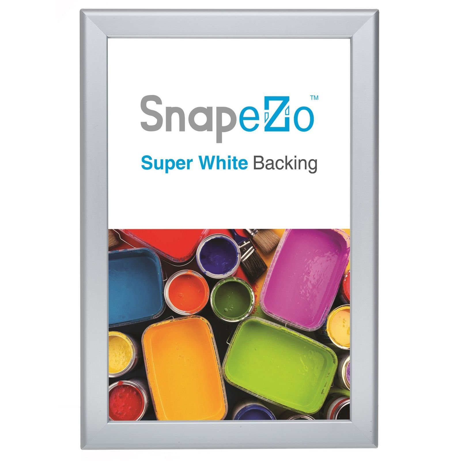 SnapeZo Weather and Water Resistant Silver Poster Frame 11x17 Inches, 1.38 Inch Outdoor Profile, Outdoor Poster Display Unit