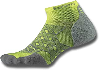 product image for Thorlos Experia Energy Micro Mini Crew Sock Size: Xs, Electric Yellow with a Helicase Sock Ring