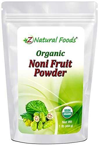Organic Noni Fruit Powder – Queen of Health Plants Superfood Supplement – Mix In Juice, Drinks, Shakes, Smoothies, Recipes – Raw, Vegan, Non-GMO – 1 lb
