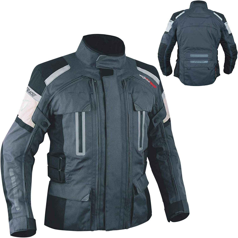Textiljacke Motorrad Wasserdicht Thermofutter Ce Protektoren Dunkel Grau S Auto