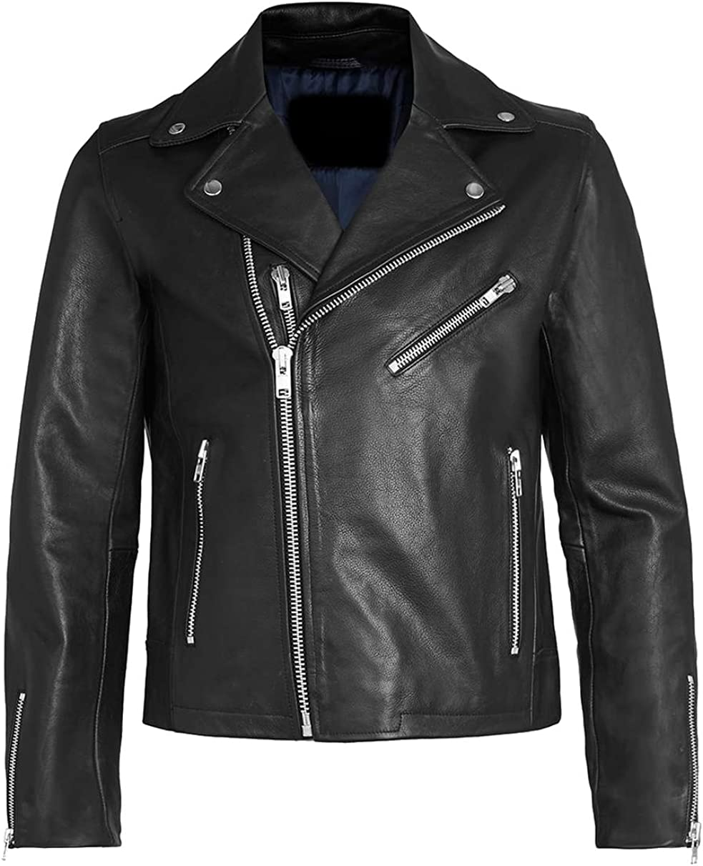 Classyak Mens Fashion Brando Style Biker Jacket