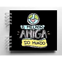 Álbum de fotos scrapbook Tema Amizade 15,7x18,5cm presente para amiga