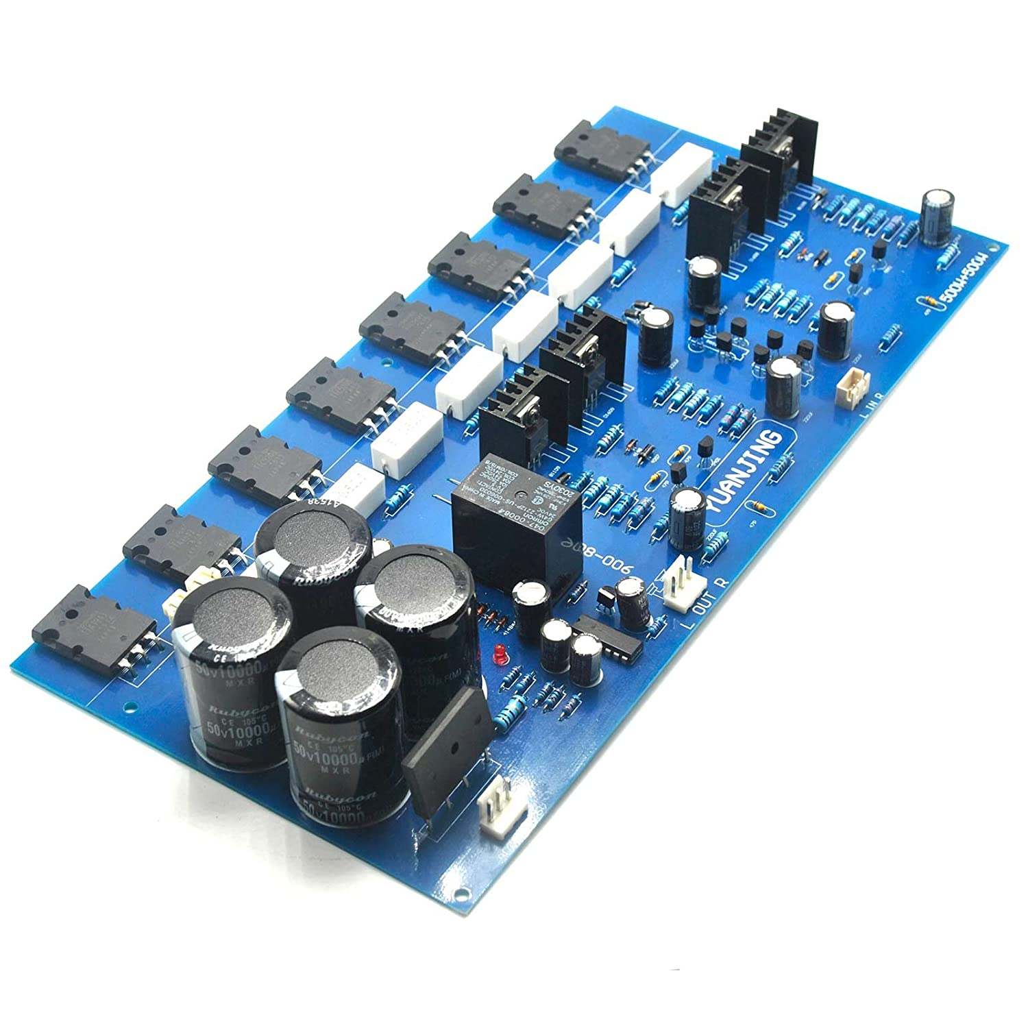 2sc5200 2sa1943 High Power Amplifier Board 400w Gain Control Circuit Diagram Amplifiercircuit Musical Instruments