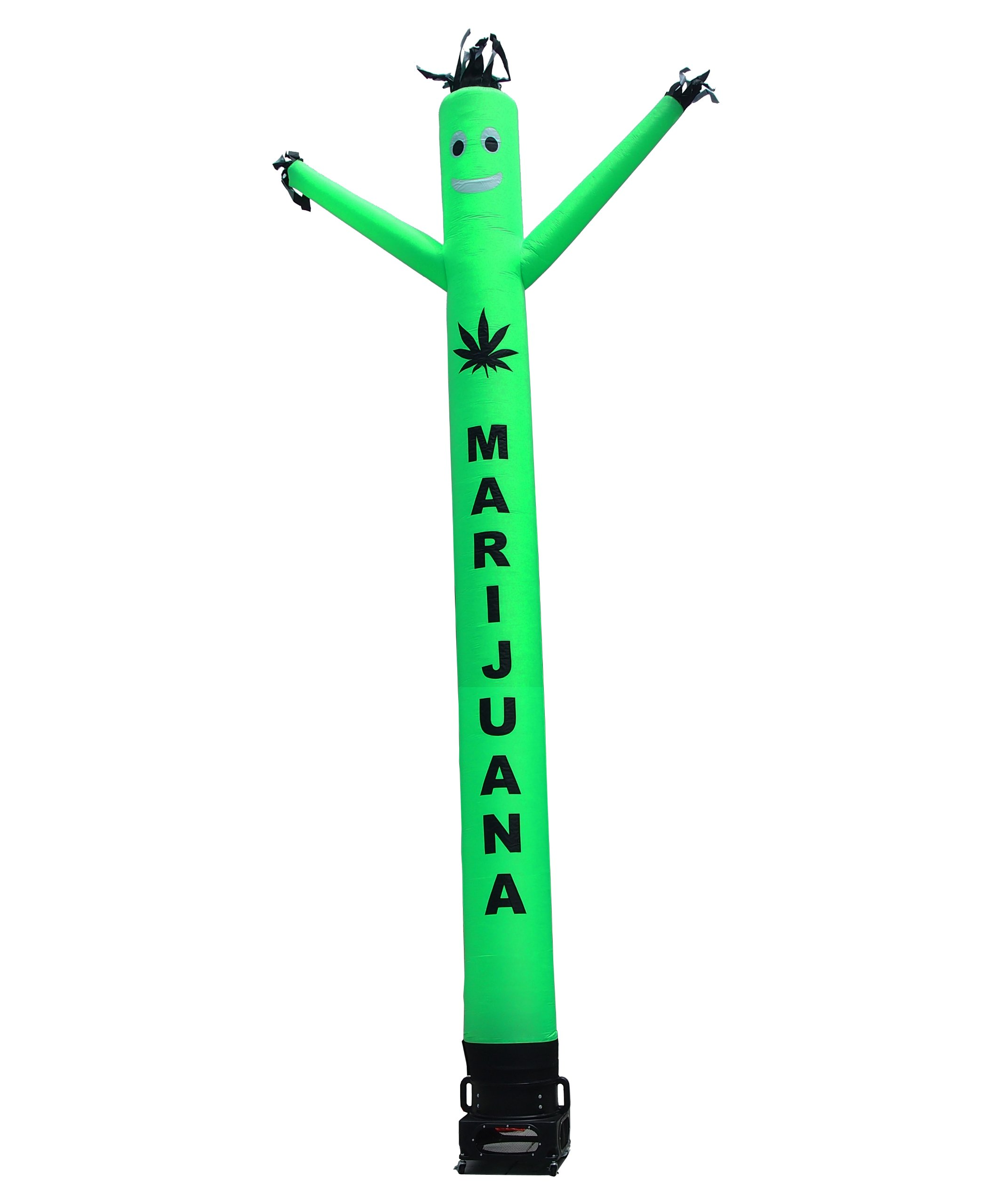 Marijuana Air Dancer & Blower Complete Set - w/Lettering & Marijuana Leaf Logo - 20ft Green Wacky Inflatable Tube Man Sky Dancer with Blower by LookOurWay (Image #1)