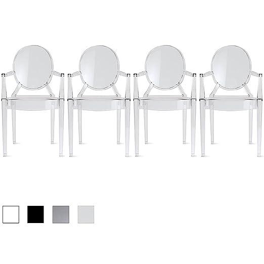 Amazon.com: 2 x Home – Conjunto de 6 modernos Louis Ghost ...
