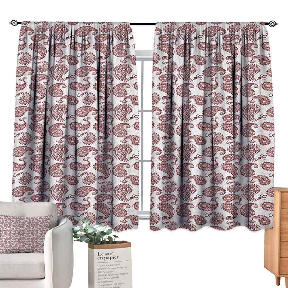 color20 W72  x L63 (183cm x 160cm) EthnicSolid Rod Pocket Short Blackout DrapesMystic Asian Mandala Zen Culture Chakra Karma Calmness and Harmony Icon Boho DesignThermal Insulated Grommet Blackout Curtains for Bedroom Multicolor. W55