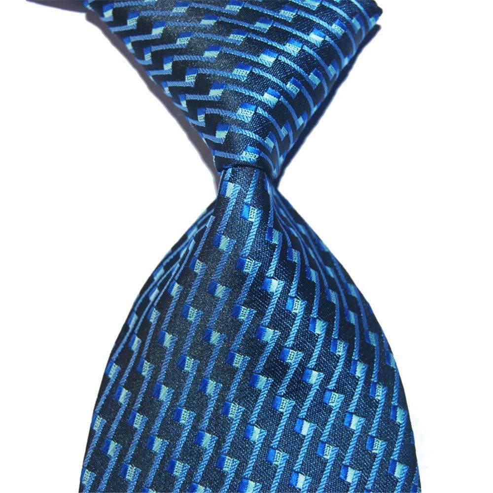 Zjuki Cravatte Cravatta Blu 10 cm Ampia Cravatta Blu Marino per Uomo Moda in Seta Jacquard Intrecciato Vestito Formale Maschile Usura Abito da Sposa Partito