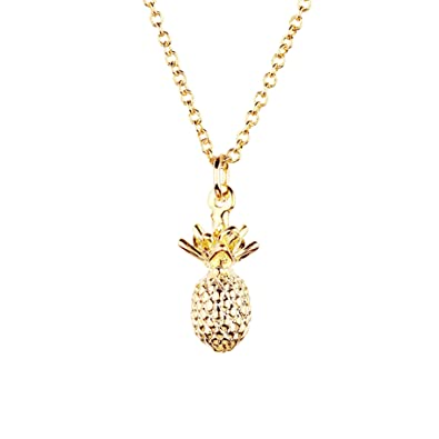 pendant silver vila tiny rosa pineapple gold cute products necklace