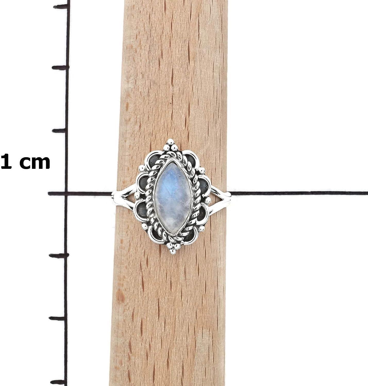 Bague argent 925 sterling avec pierre de lune 1 No: MRI 152