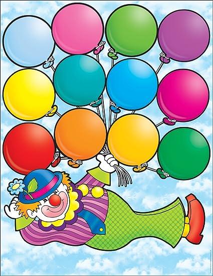 Amazon Scholastic Clown Birthdays Chart TF2154 Themed