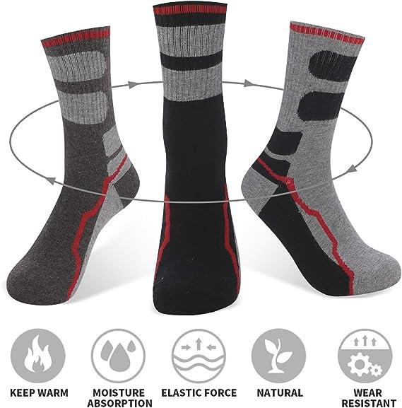 AIRGINE Chaussettes en Laine M/érinos pour Hommes Paquet de 5 paires de Chaussettes /à vis en Plein air Marche Sport Randonn/ée Trekking Athletic