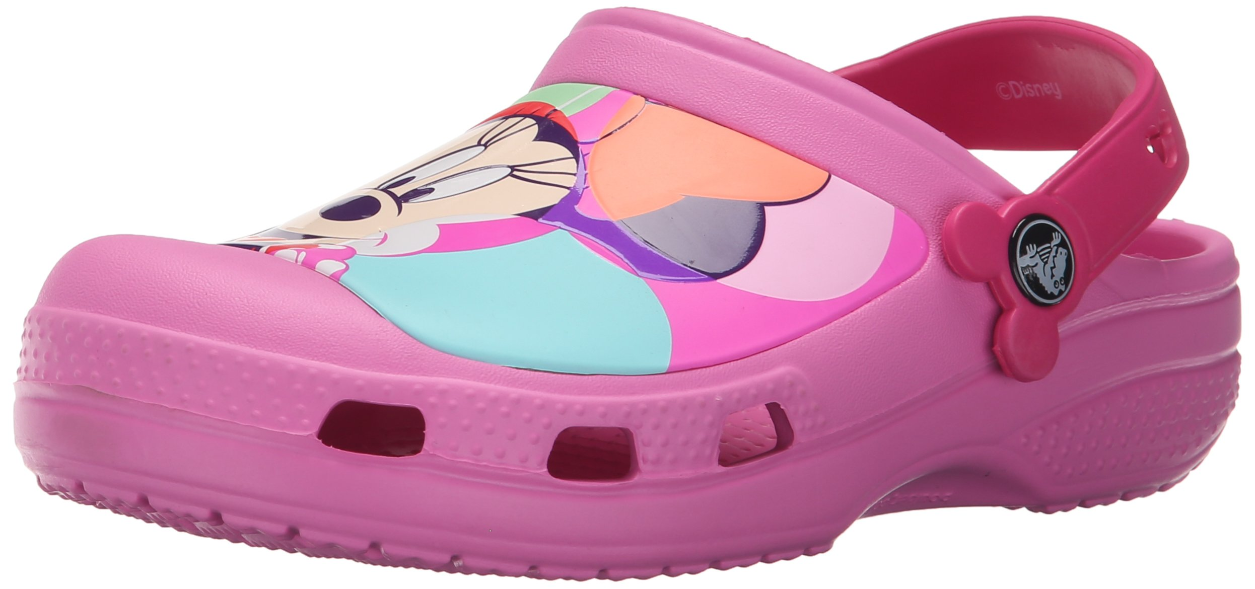 Crocs CC Colorblock K Minnie Licensed Clog (Toddler/Little Kid), Party Pink, 12 M US Little Kid/13 M US Little Kid