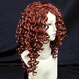 Lovely Long Curly Fox Red skin top Wigs Versatile Hair Ladies Wig
