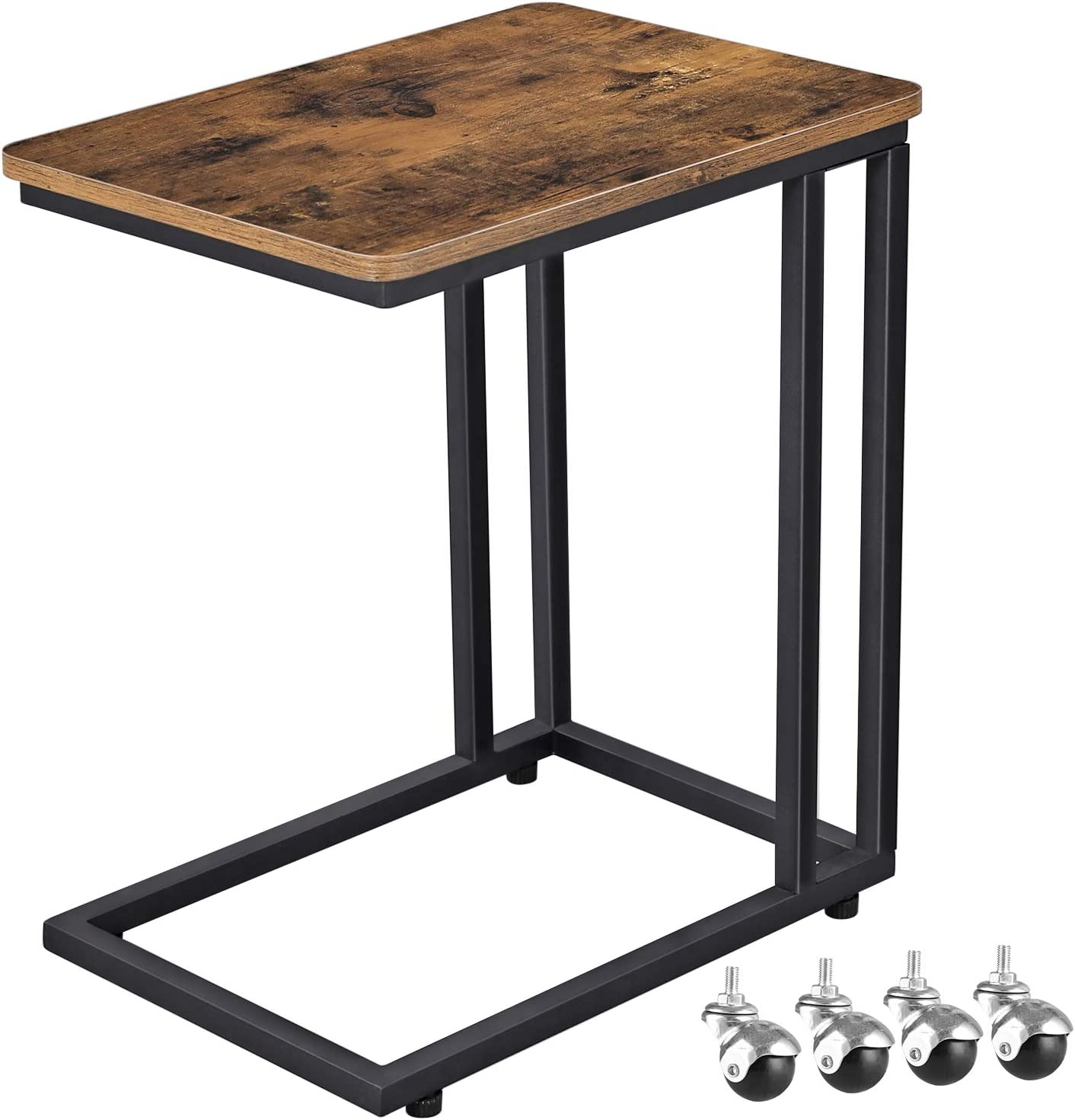 - VASAGLE Industrial Side Table, Mobile Snack Table For Coffee