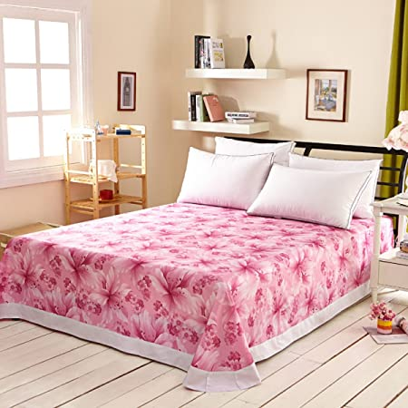YFFS Cotton Bed Sheets Twill The Effectiveness Of Printing Sheets Large Flower  Bed Bedding Cotton Single