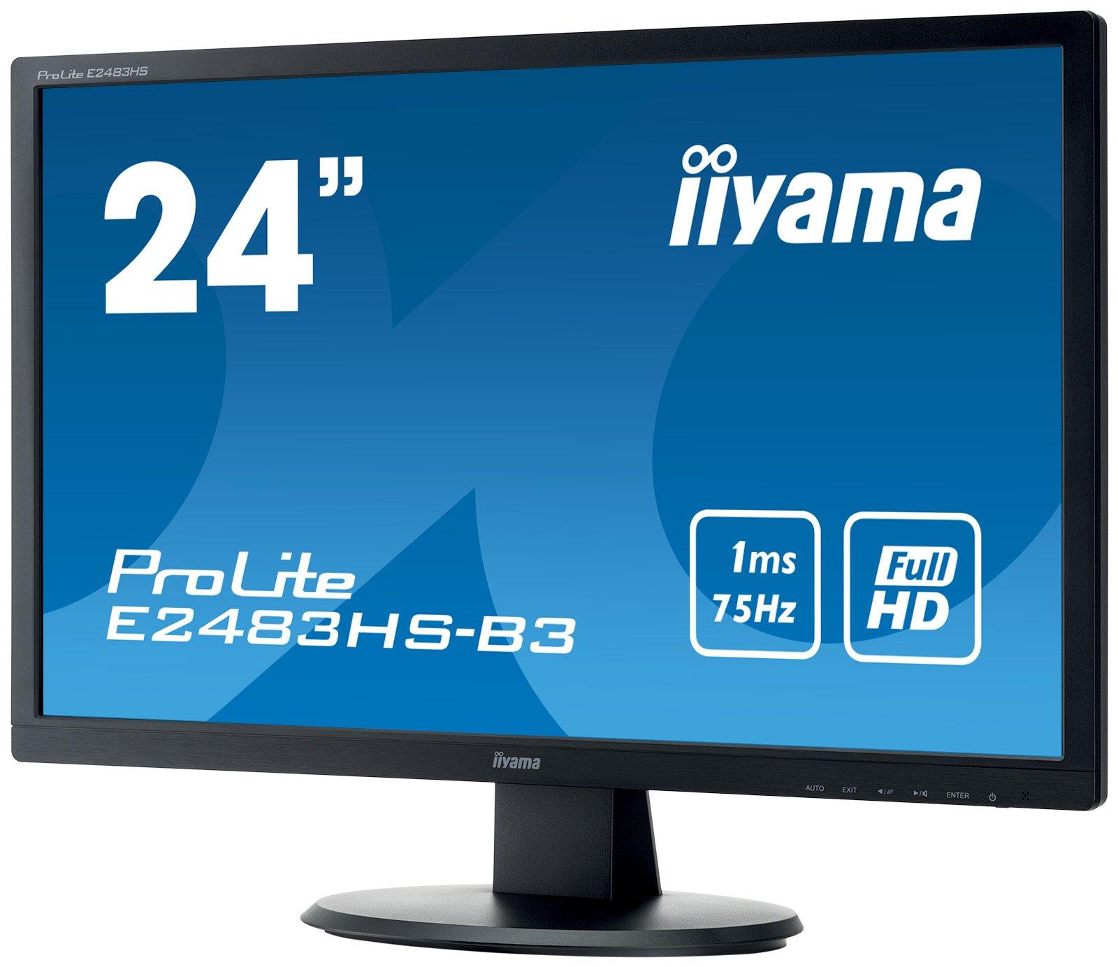 "IIYama e2483hs de B360,96cm (24"") Moniteur Noir product image"
