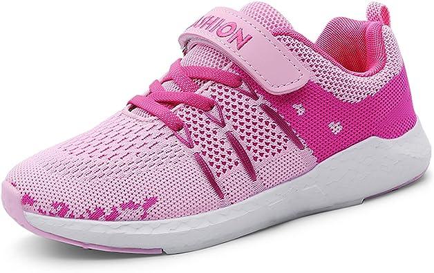 Zapatos para niños Calzado Deportivo Ultraligero Zapatillas de Deporte Transpirables Velcro Low-Top Zapatillas de Deporte Zapatillas de Running Zapatillas para niñas para niños 28-38: Amazon.es: Zapatos y complementos