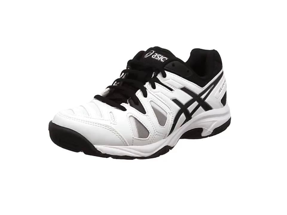 Asics Gel-game 5 Gs Chaussures de tennis unisexe pour enfant - - White/Black/Silver KxHwDL,