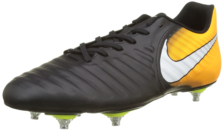 Nike Herren Tiempo Rio IV SG Fuszlig;ballschuhe  41 EU|Schwarz (Black/White/Laser Orange/Volt)