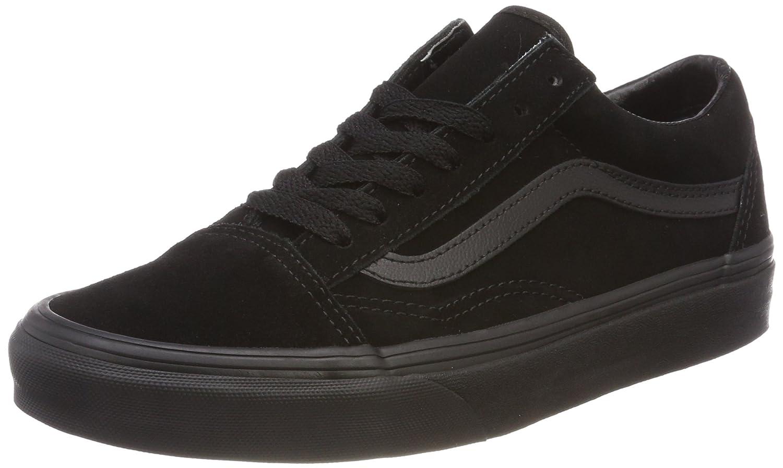 Vans Unisex Old Skool Classic Skate Shoes B0725BN8SF 5 B(M) US Women / 3.5 D(M) US|Suede Black Black Black