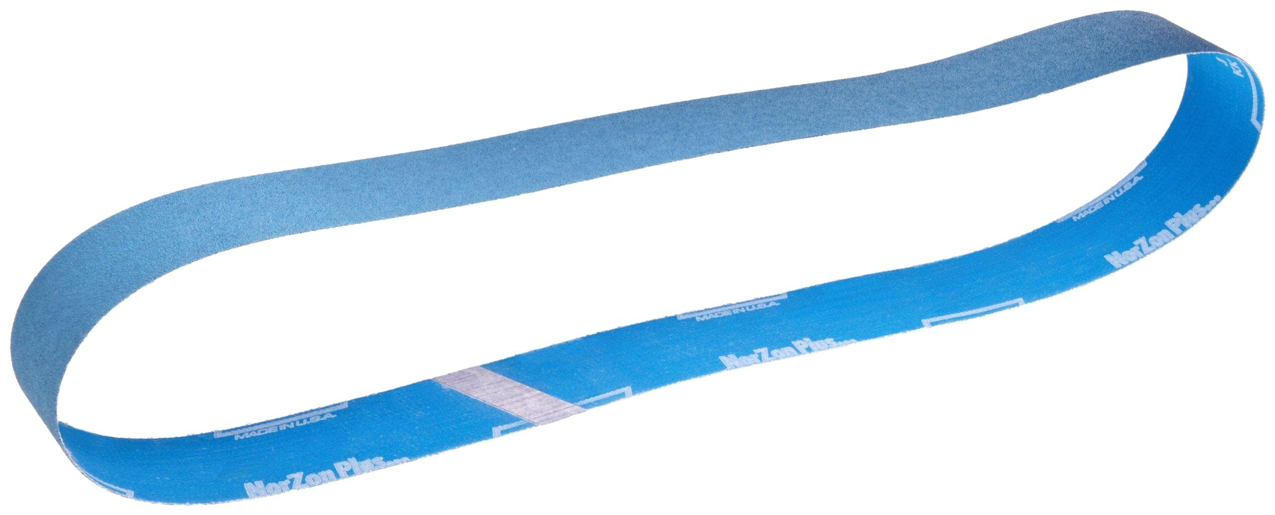 Norton BlueFire R823P Benchstand Abrasive Belt, Polyester Backing, Zirconia Alumina, Waterproof, 6'' Width x 48'' Length, Grit 80 (Pack of 20)
