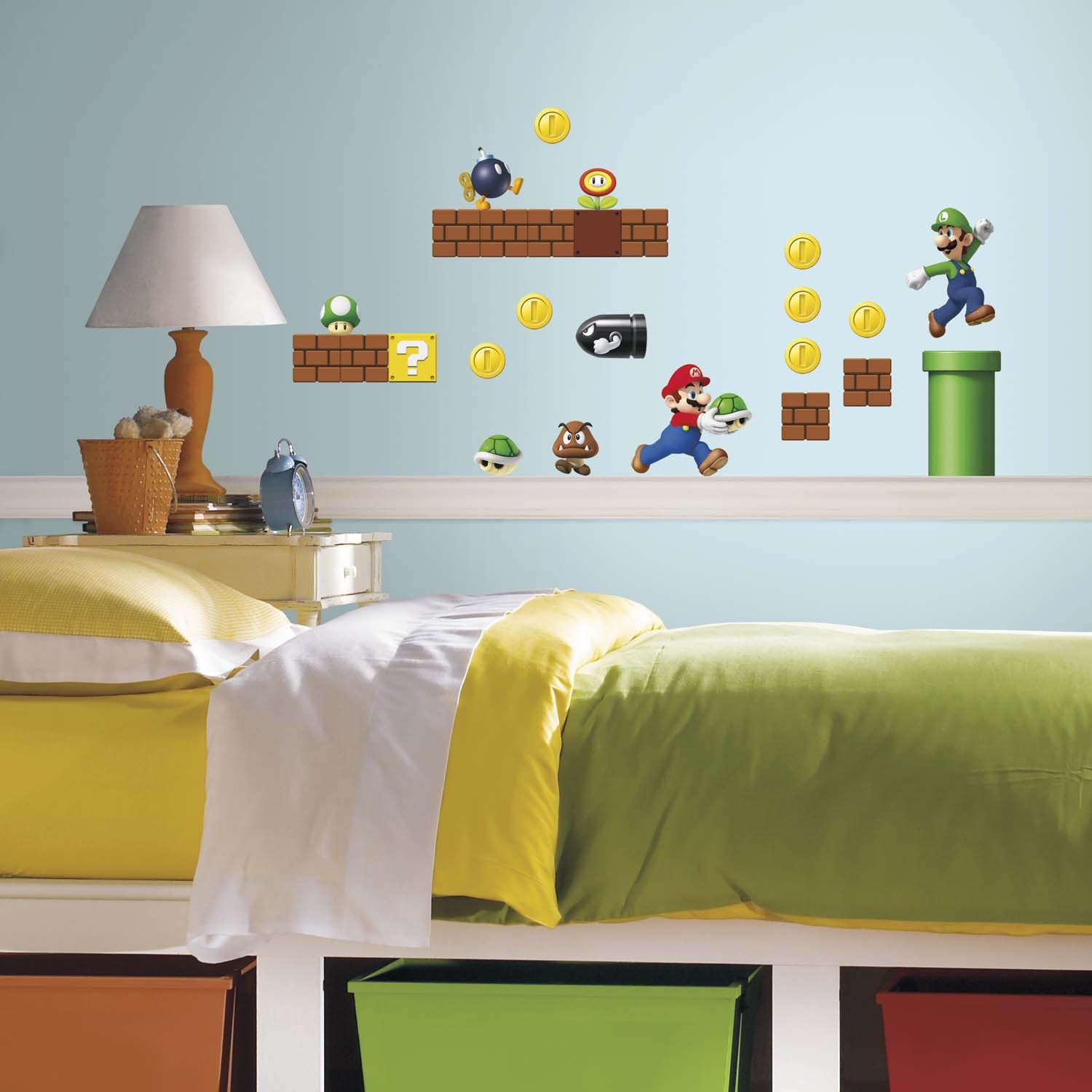 Nice RoomMates 54144 Super Mario World Wall Stickers: Amazon.co.uk: Kitchen U0026  Home