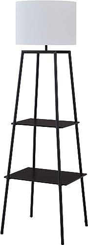 Amazon Brand Stone Beam Rustic Storage Space/Shelving Unit Pull Chain Switch Floor Lamp