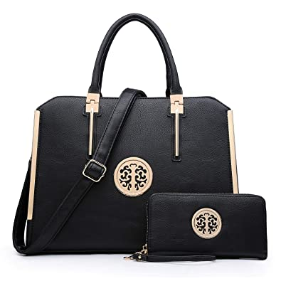 0dc5e289d7 Dasein Top handle Handbags Women Shoulder Purse Satchel Bags Work Tote Bags  W/Wallet (