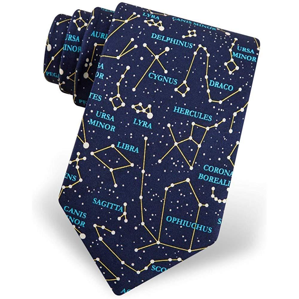 Hombres 100% seda azul constelaciones de astronomía Star Gazer ...