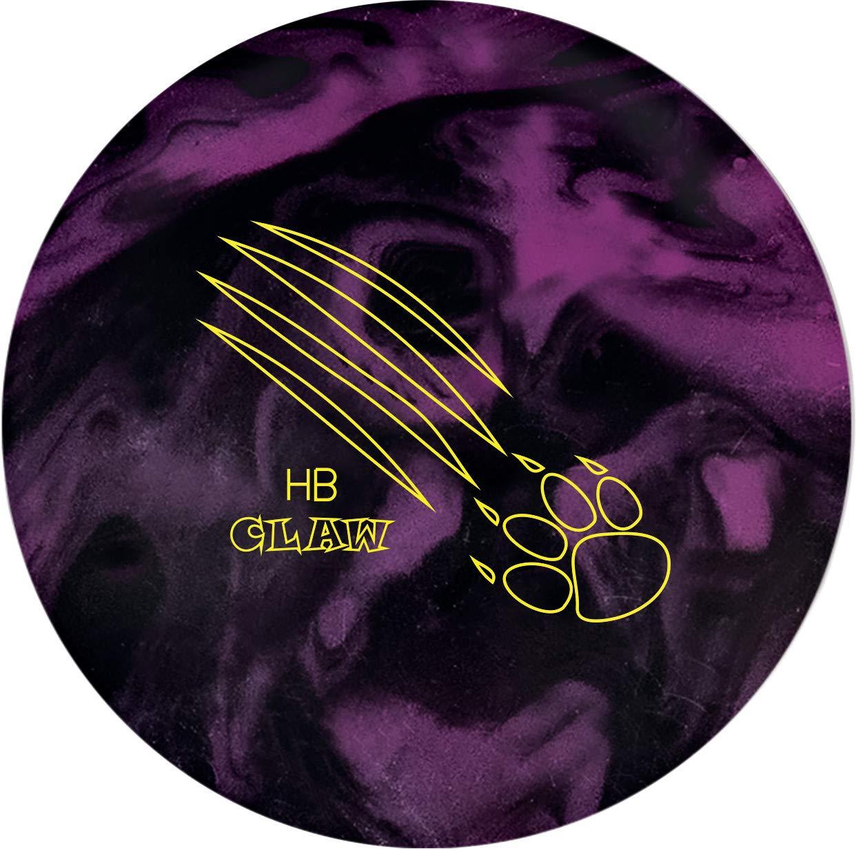 900 Global Honey Badger Claw ボーリングボール - ブラック/パープル 15 lb.  B07JW6DK9L