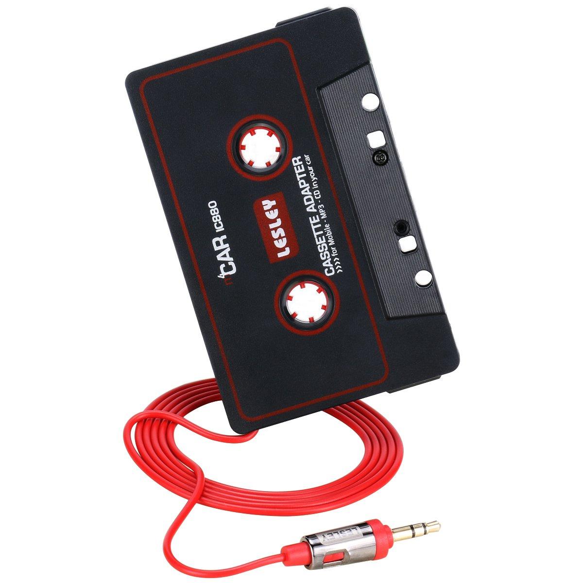 Reshow Adaptateur Cassette pour Voitures - É coutez des iPods, des Smartphones, des lecteurs MP3 ou Un Walkman dans Un Lecteur Cassettes de vé hicule Standard - Convertisseur Vintage/Musique Ré tro