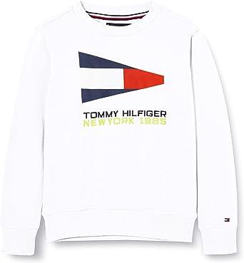 Tommy Hilfiger Sailing Flag Graphic Sweatshirt Sudadera para Niños: Amazon.es: Ropa y accesorios