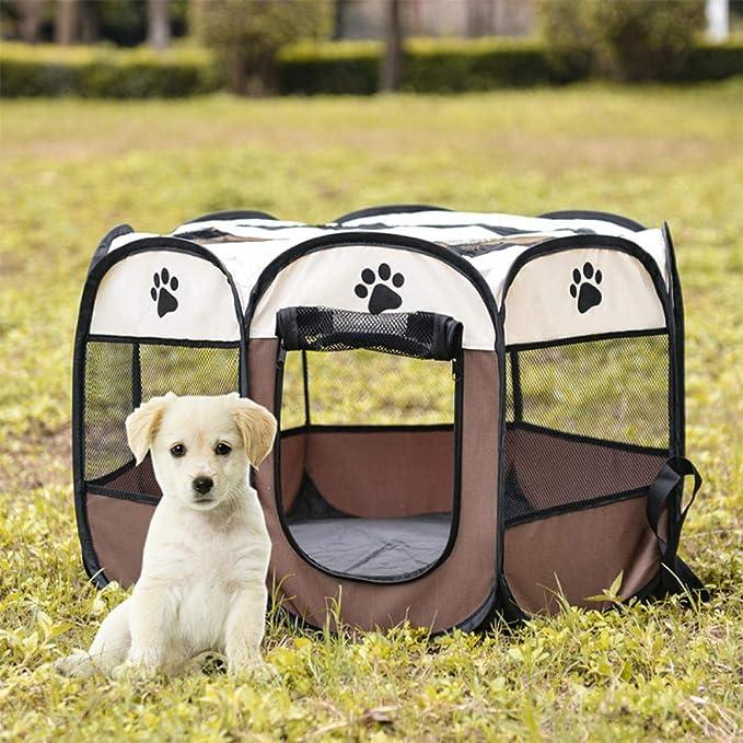 Cama portable de la Carpa del perro casero Parque infantil Casa for Perros cesta plegable del perro de perrito del recinto de la jaula a prueba de agua for el perro de la perrera Casa Nido-4_73x73x43c