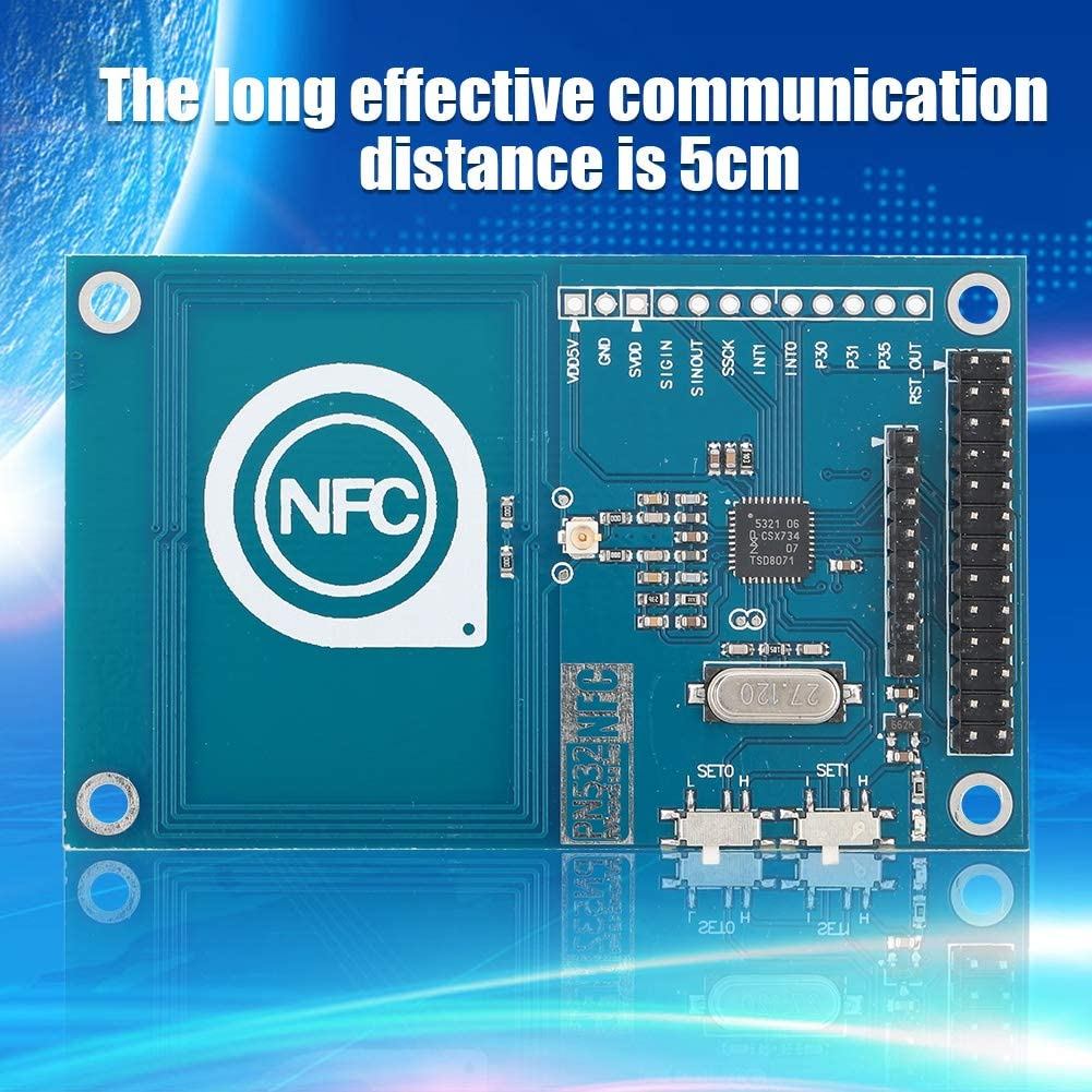 NFC Board Module,PN532 RFID IC Card Reader Module NFC Expansion Board for Arduino Raspberry PI,Supports for SPI IIC UART Interface Switching