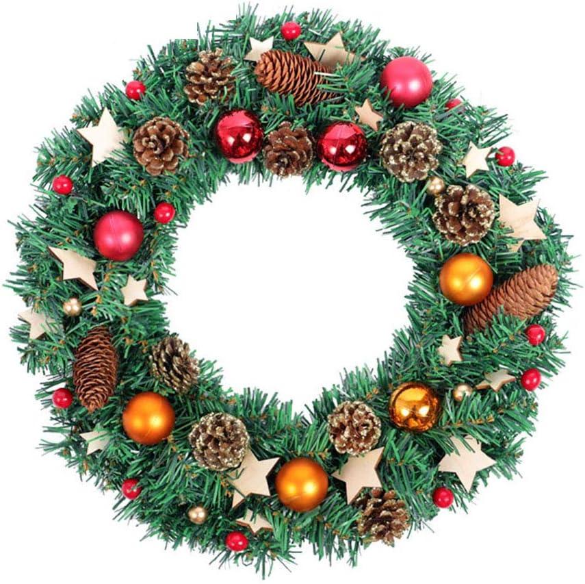 Artificial Flower Guirnalda Navidad Conos Pino Bayas Interiores,Exteriores Decoración Navidad Colgar Puertas Paredes Escaleras Y Más Exposición Al Aire Libre De Interior: Amazon.es: Hogar
