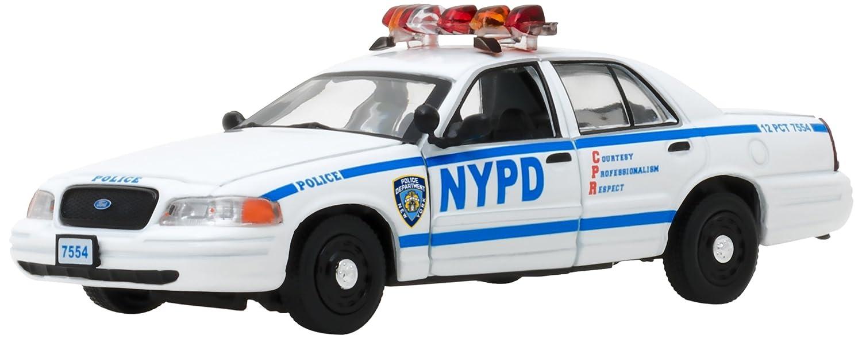 Grünlight Collectibles – Ford Ford Ford – Crown Victoria Polizei New York – Blau Bloods – Crime Scene New York Auto Miniatur-Collection, 86519, weiß/blau 7b1955
