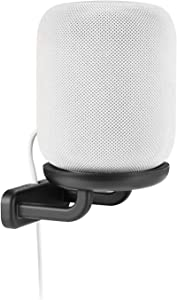EVOS Speaker Wall Mount - with Silicone Pad - Compatible with Apple HomePod - Black
