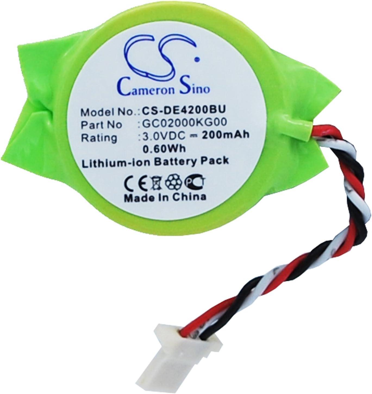 200mAh Replacement for DELL Latitude E4200, Latitude E4300 Battery, P/N GC02000KG00